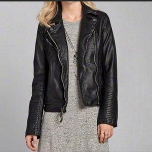 A&F Black leather jacket